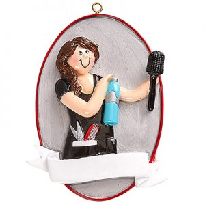 Hair Stylist Personalized Ornament Blank