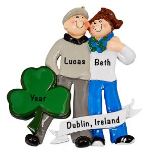 Love In Ireland Couple Personalized Ornament