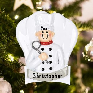 Personalized Chef Christmas Ornament