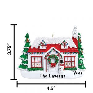 Christmas House Personalized Christmas Ornament