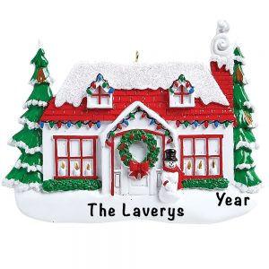 Christmas House Personalized Ornament