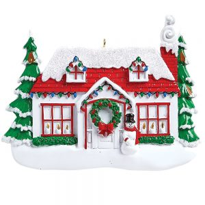 Christmas House Personalized Ornament Blank