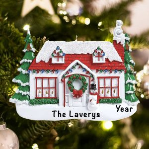 Personalized Christmas House Christmas Ornament