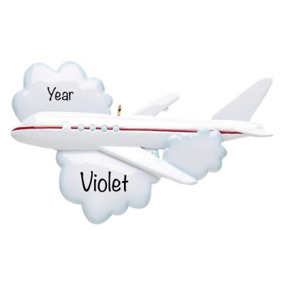 Flying Airplane Travel Personalized Ornament