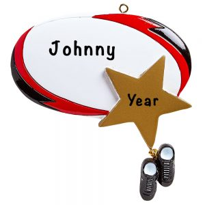 Rugby Star Personalized Ornament