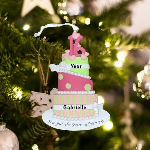 Personalized Sweet Sixteen Christmas Ornament