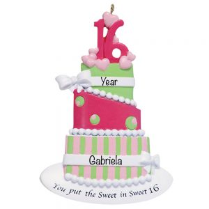 Sweet 16 Cupcake Personalized Ornament