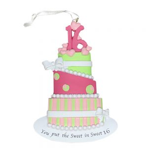 Sweet Sixteen Personalized Christmas Ornament Blank