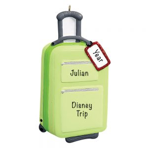 Travel Suitcase Personalized Ornament