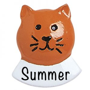 Orange Cat Add On Personalized Ornament