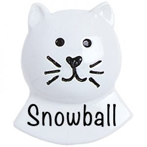 White Cat Add On Personalized Ornament