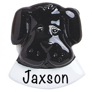 Black Dog Add On Personalized Ornament