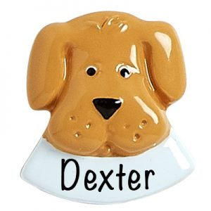 Brown Dog Add On Personalized Ornament
