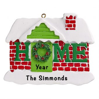 Home Sweet Home Personalized Christmas Ornament