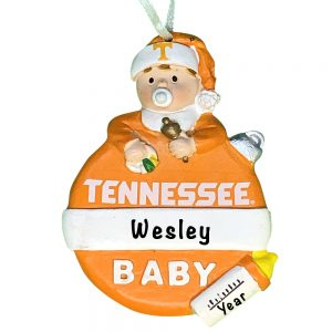 Tennessee Volunteers Baby's First Christmas Personalized Ornament