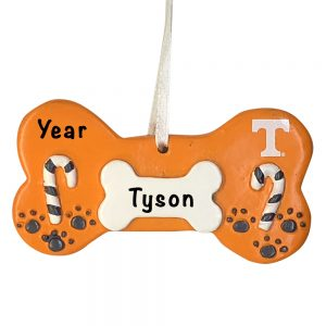Tennessee Volunteers Dog Bone Personalized Christmas Ornament