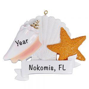 eaShells Personalized Christmas Ornament