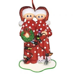Personalized Christmas Light Couple Christmas Ornament Blank