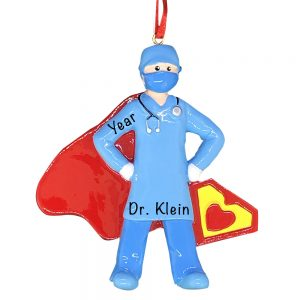 Super Doctor _ Nurse COVID-19 Personalized Christmas Ornament