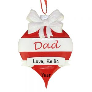 Dad Red Ornament Personalized Christmas Ornament