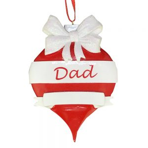 Dad Red Ornament Personalized Christmas Ornament Blank