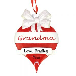 Grandma Red Ornament Personalized Christmas Ornament