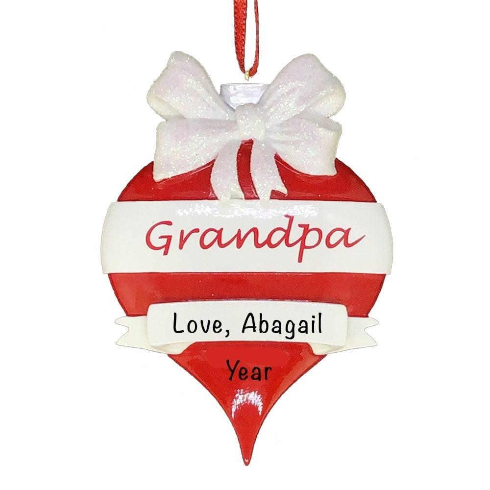 Grandpa Red Christmas Ornament   Gifts For Grandpa