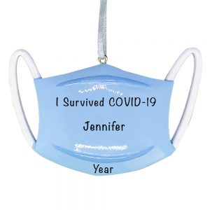 Mask COVID-19 Personalized Christmas Ornament