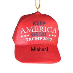 Trump 2020 MAGA Hat Personalized Christmas Ornament