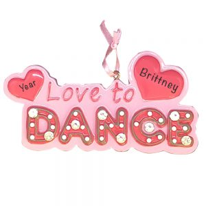 Personalized Love To Dance Christmas Ornament
