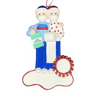 Coronavirus Couple Survival Kit COVID-19 Personalized Christmas Ornament Blank