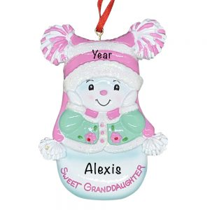 Sweet Granddaughter Personalized Christmas Ornament