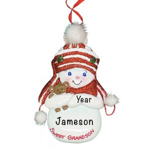Sweet Grandson Personalized Christmas Ornament copy