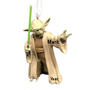 Yoda Star Wars Licensed Personalized Christmas Ornament