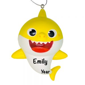 Baby Shark Yellow Personalized Christmas Ornament