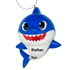 Baby Shark Daddy Shark Personalized Christmas Ornament