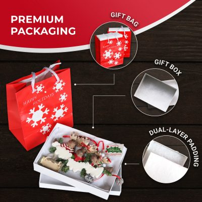 Personalized Christmas Ornaments Gift Wrapping Gift Bag Holiday