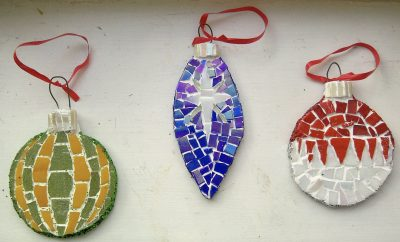 Mosaic Christmas Personalized Ornaments Holiday Traditions MyOrnament