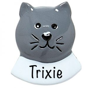 RMCG Gray Cat Add On Personalized Ornament