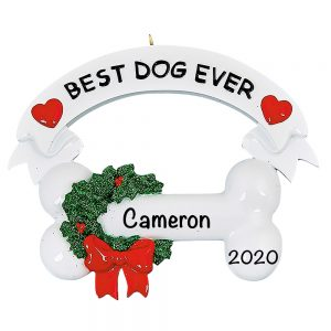 Best Dog Ever Personalized Christmas Ornament