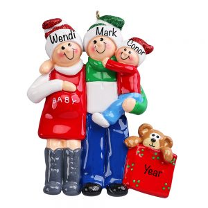 Expecting Family Second Miracle Personalized Christmas Ornament