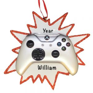 Video Game Controller Personalized Christmas Ornament